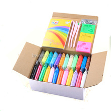 24 Colors a Box Kids Modeling Super Light Clay Ultra-light Plasticine DIY Air Dry Clay