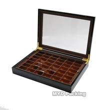 Custom acrylic lid wooden luxury chocolate boxes packaging biodegradable wooden box