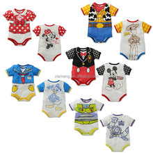 short sleeve cartoon romper color baby romper onesie