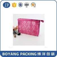 Christmas gift beautiful travel clear PVC promotional cosmetic bag for the people you love