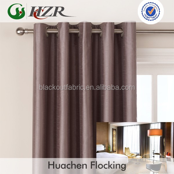 Faux Silk Dupioni Polyester Acrylic Foam Coating Blackout Curtain Fabric