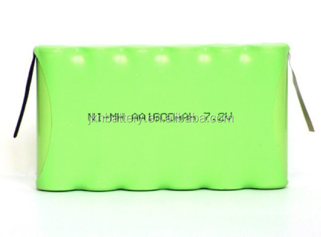 7.2V Ni-mh AAA 1600mAH nimh Cylinder cell rechargeable battery pack