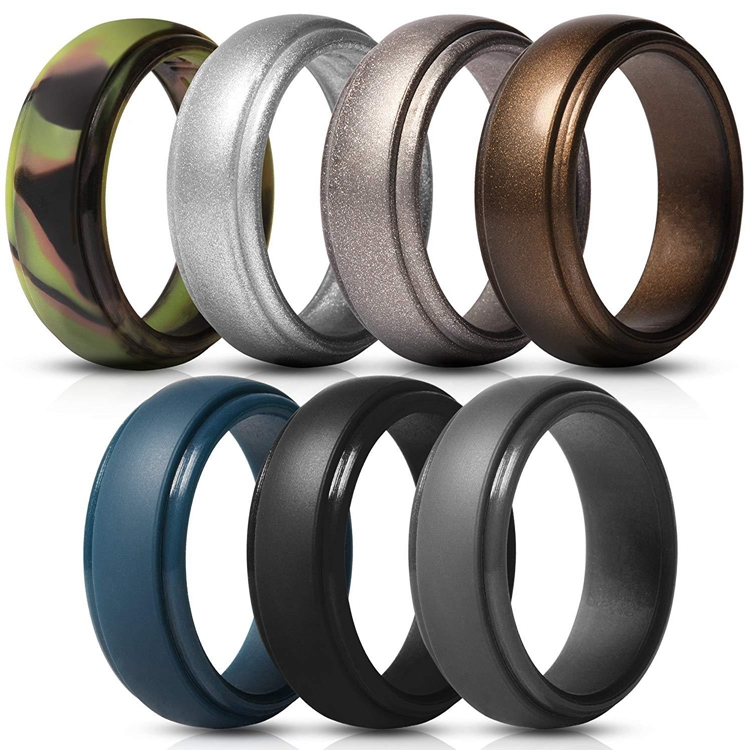 10 Colors and Sizes 7-13 Hot Engagement Silicone Ring Wedding Rings for Men