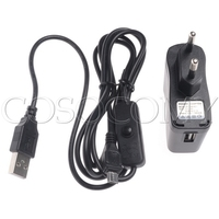 5v1a USB POWER SUPPLY CHARGER FOR RASPBERRY PI 5.0V 1000mA EU PLUG AC POWER ADAPTER with Micro USB Cable ON/OFF Switch