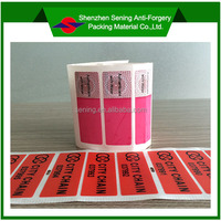 "Hot Saling PET Material Perforated Label,Leaving Word""VOID"" If Removed"