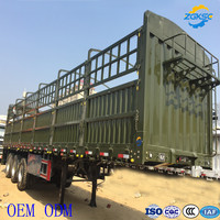 Aluminum alloy 33500 loading capacity 3 Axle stake semi trailer