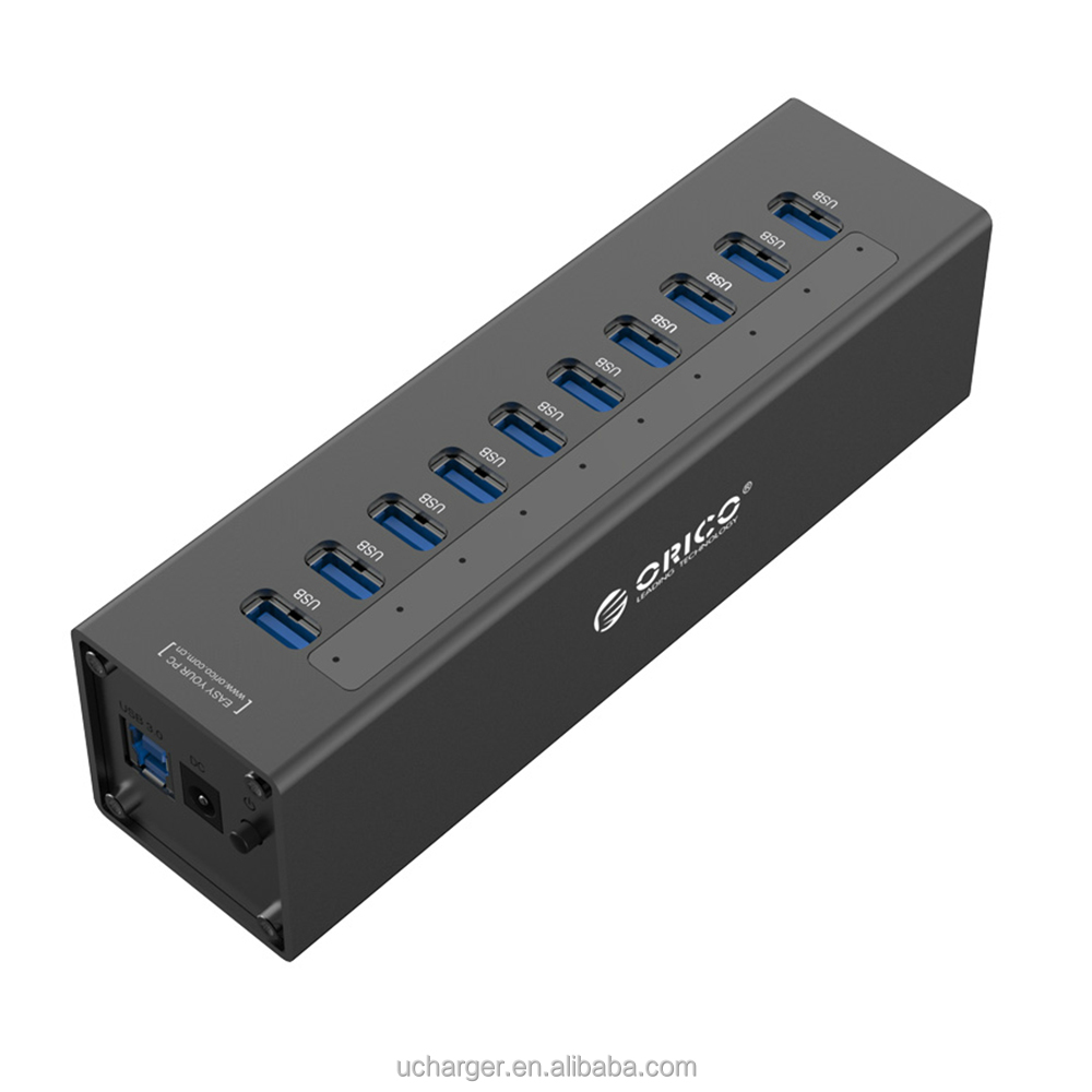 Ethernet 10 Port USB 3.0 HUB