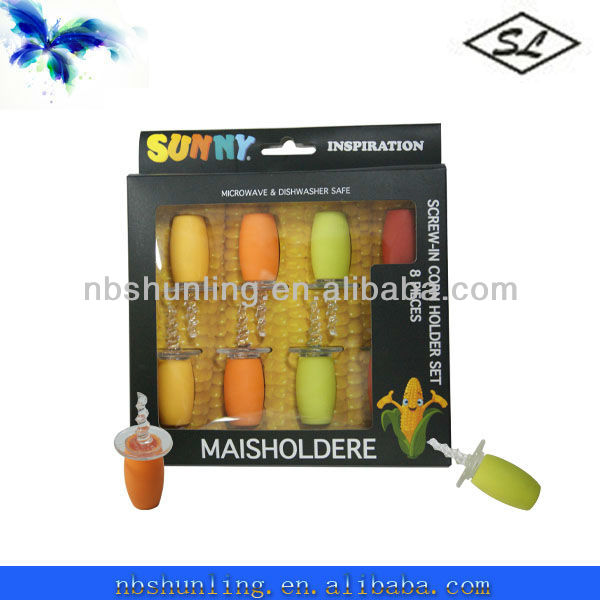 8PC Plastic bbq corn cob holders