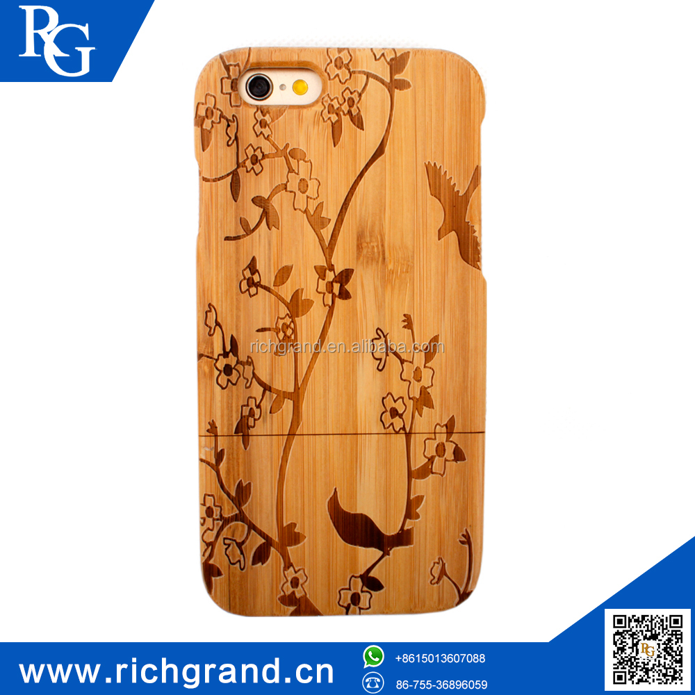 "Smart Panda pattern mobile phone case for iphone 6 4.7"" 5.5"" High Quality Wood Covers"