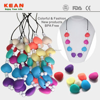 Safe Jewellery/Silicone Teething Jewelry Mom Wearing Necklace Teething Baby