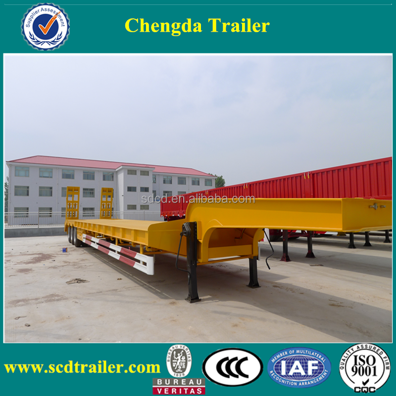 Hot sale heavy duty boat trailer 3 axles best selling 60ton off road low bed vehicle trailer promotion