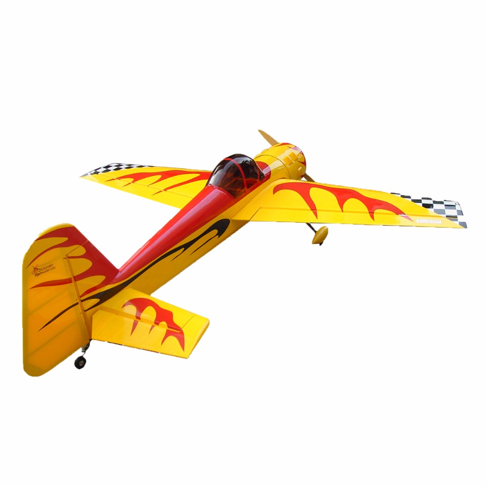 "rc fiberglass cowl YAK-55 86.6"" 50cc rc model airplane for sale"