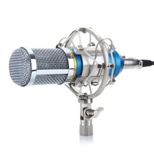 Hot sell new style bm800 Condenser Sound Recording Microphone with Shock Mount for Radio Braodcasting Singing Black