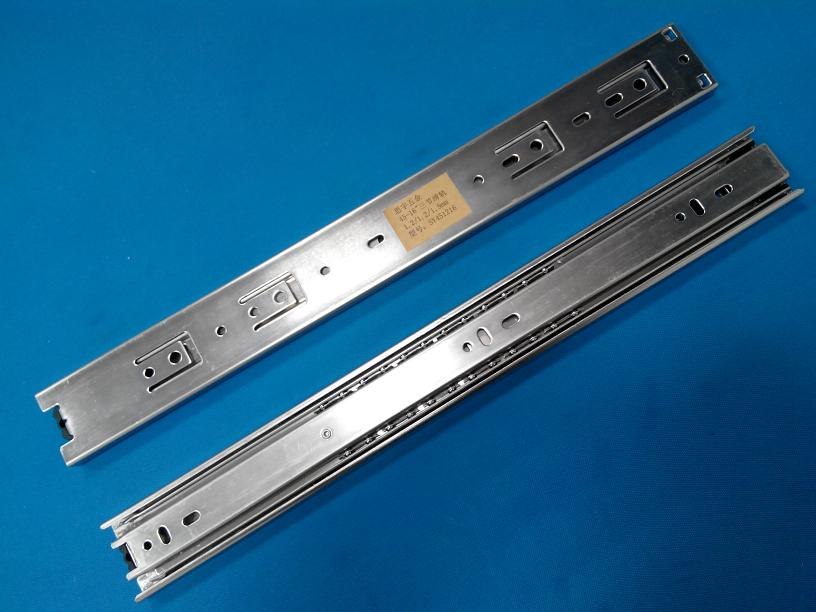 45mm 3 fold Ball Bearing Extension Drawer Slide - 16 inches