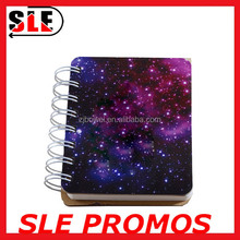 Starry Sky Printing Paper Cover Spiral Notebook Mini Notepad Korea Style A5/A6 Size Notebook