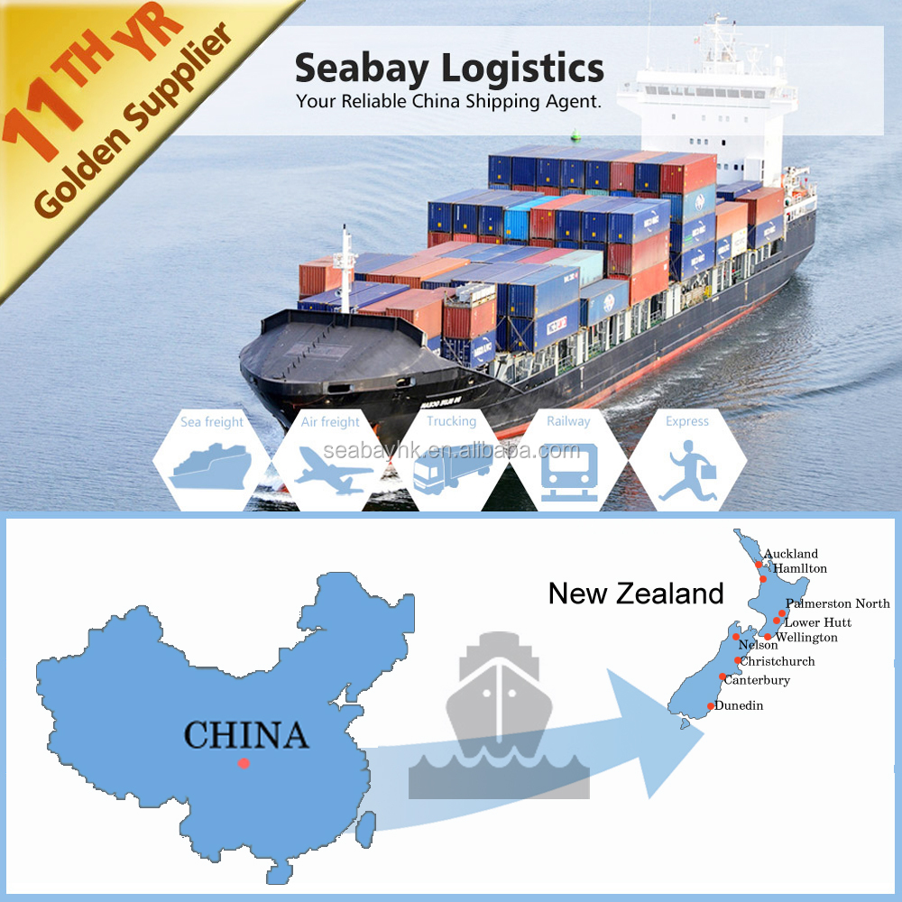 Cheap sea freight shipping charges China to Wellington New Zealand