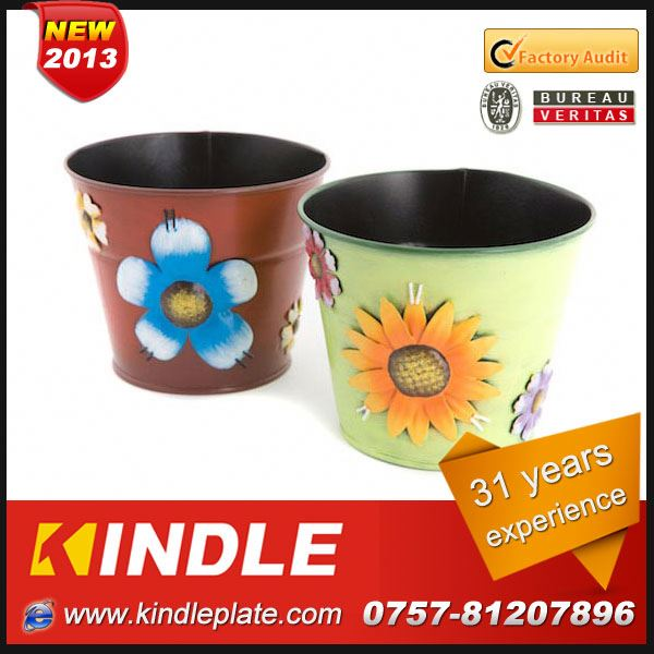 Kindle 2013 New polychrome big garden flower pots with 31 years experience