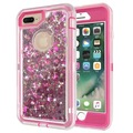 liquid case for iPhone glitter, for iphone 7 7plus liquid glitter phone cover with clip