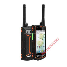 4inch walkie talkie function rugged waterproof mobile phone with GPS NFC bluetooth WIFI android