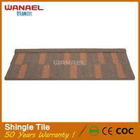 2016 Wanael high quality with best price rain resistance metal roof shingles for sale