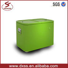 Durable metal garden ice cool box locking cooler box