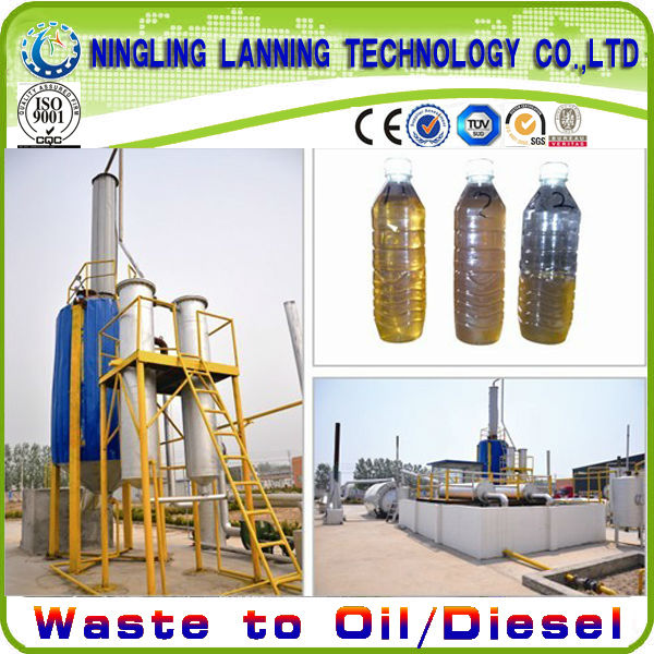 2016 newest Distill pyrolysis fuel oil to diesel Project