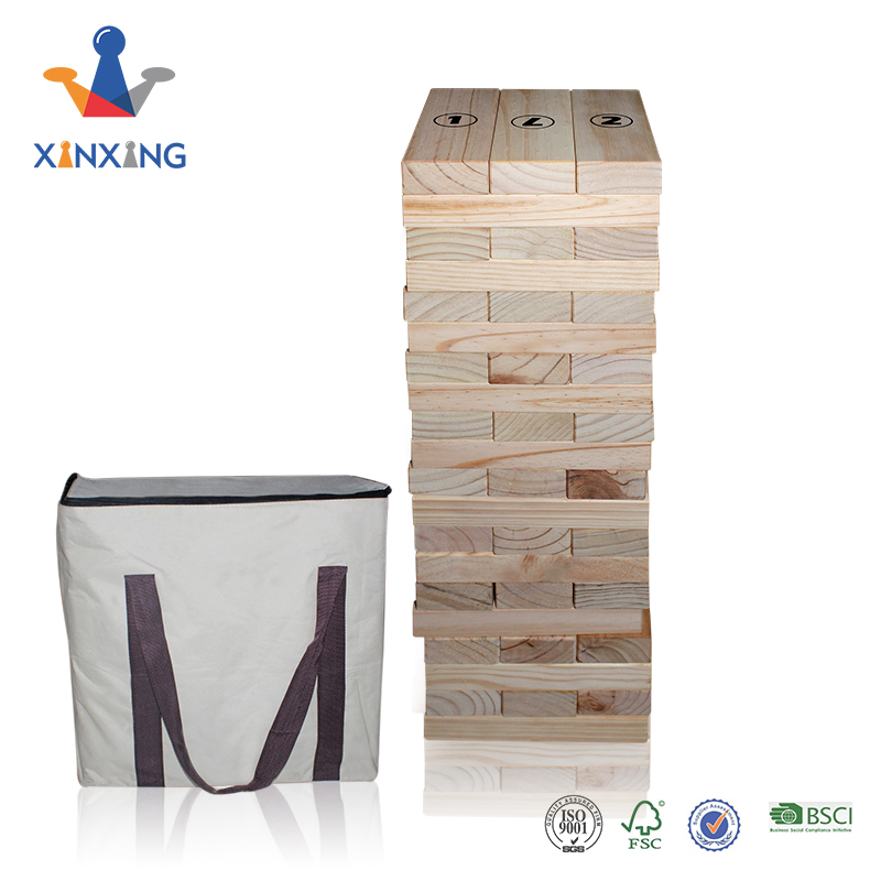 Giant Tumbling Timber /wooden blocks welcome to print customer brand