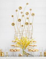 Modern 3D home decor metal wall Art Abstract sculpture wallcovering art craft wholesale