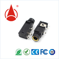 1/4 6.35mm stereo jack socket for PCB and panel mount