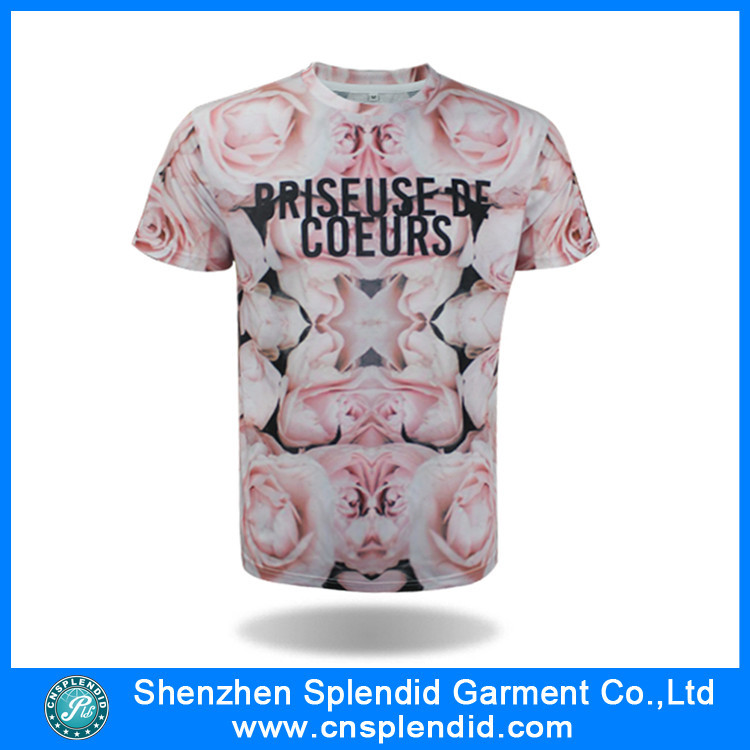 Shenzhen garment factory 3D sublimation softextile t-shirt