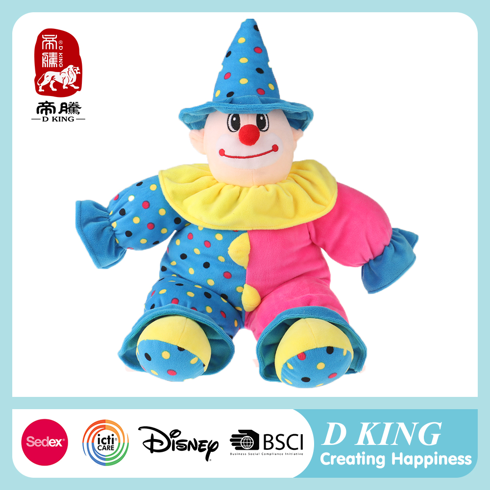 New design stuffed clown doll toys plush clown doll toys for kids