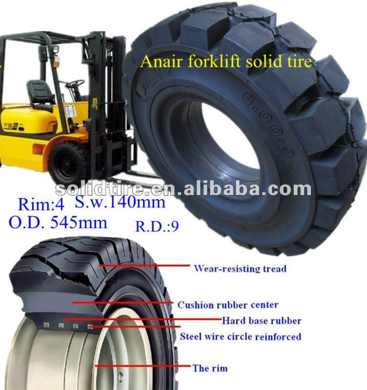 solid tire/forklift tire/wheel laoder tire
