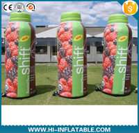 Custom made full printing advertising inflatable bottle beverage bottles