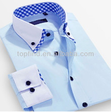 100% Fashion Latest Design Latest Formal double collar shirt for men