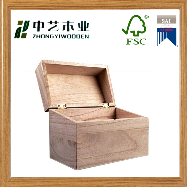 High quality handmade unfinished pine cheap wooden recipe box