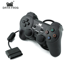 DATA FROG Wired Gamepad For Sony PS2 Controller Double Vibration Gamepads For PS2 Controle Joystick For <strong>PlayStation</strong> 2