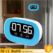ABS LCD Touch Screen Blue Kitchen Countdown Timer