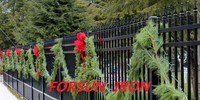 Standard wrought iron fence design, strong and security