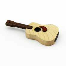 New arrival usb flash drive guitar shape wooden pendrive accept Paypal usb thumb drive