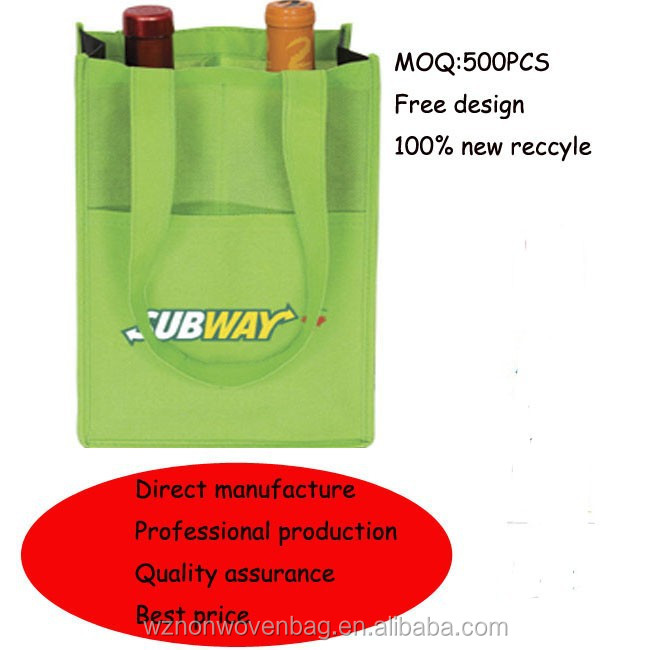 promotional customized non-woven bottle bag