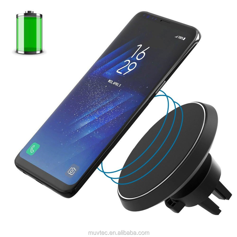 OEM / ODM 10W Fast Wireless Car Charger Magnetic Car Wireless Charger Mount Wireless Charging for Any QI Enabled Devices