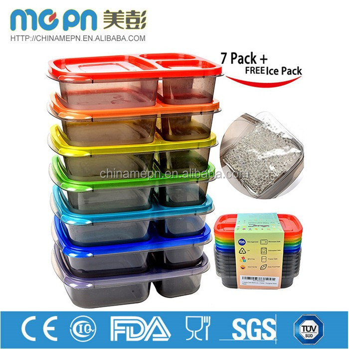 MPEN Wholesale personalized 36oz plastic food containers with dividers