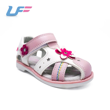 Pink purple sky blue wrapped toe latest fashion girls sandals