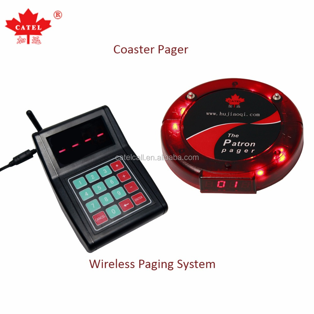 Staff paging system for Restaurant coaster pager 2017 new product