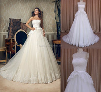 MM015 latest pictures of lace body and tulle skirt girl wedding dresses 2016
