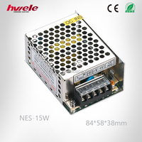 NES-15W Switching Mode Power Supply 12V 1.3A DC Converter Similar to Meanwell RS Series with CE ROHS CCC KC TUV Certification
