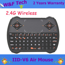 v6 mic rf air mouse remote control for smart tv box