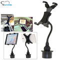 "Professional bendable 7-10"" tablet holder Car Cup Holder Mount for iPad 4 3 2 air mini 1 2 3 4 and Sumsang Galaxy Tab"