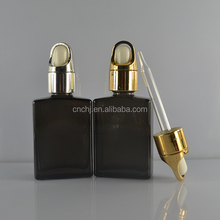 european fashion 30ml 50ml rectangular spraying coating perfume glass dropper bottle