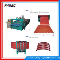 Color galvanized metal aluminum corrugated or trapezoidal colored roofing sheet tile rolling forming machinery